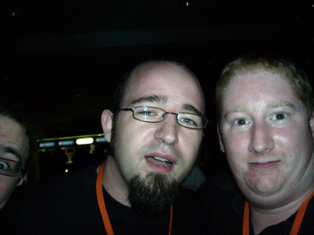 Worst photo ever! (Jono Bacon and myself)